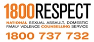 Logo with phone number for National Sexual Assault, Domestic Family Violence counselling service - 1800 737 732
