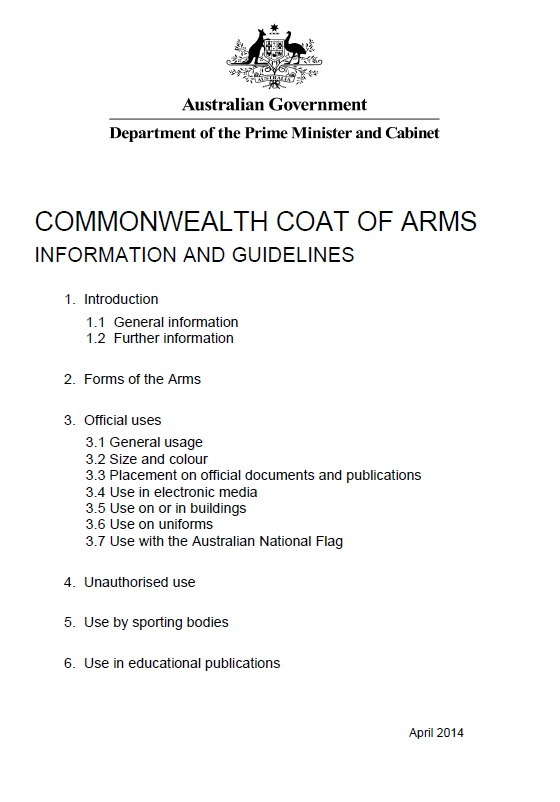 Commonwealth Coat Of Arms Information And Guidelines Department Of