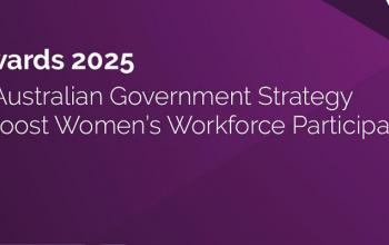 Towards 2025: An Australian Government strategy to boost women's workforce participation' and 'W' logo