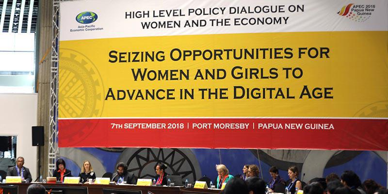 Participants at the High Level Policy Dialogue - APEC Women and Economy Forum 2018