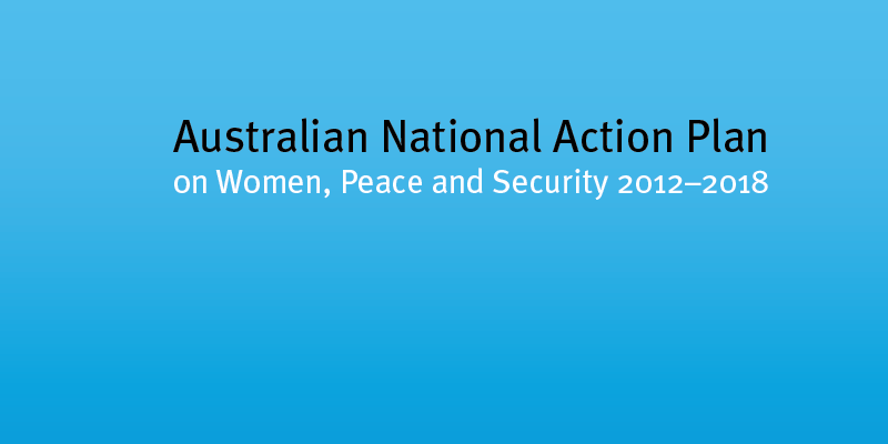 Interim Review of the Australian National Action Plan on Women, Peace and Security 2012-2018