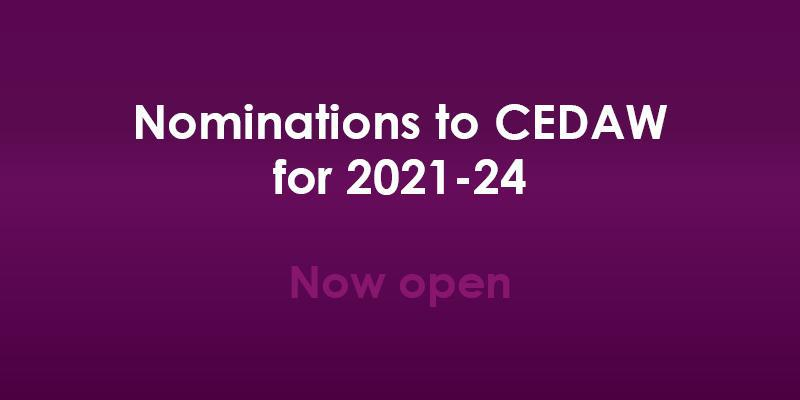 Nominations to CEDAW for 2021-24 now open