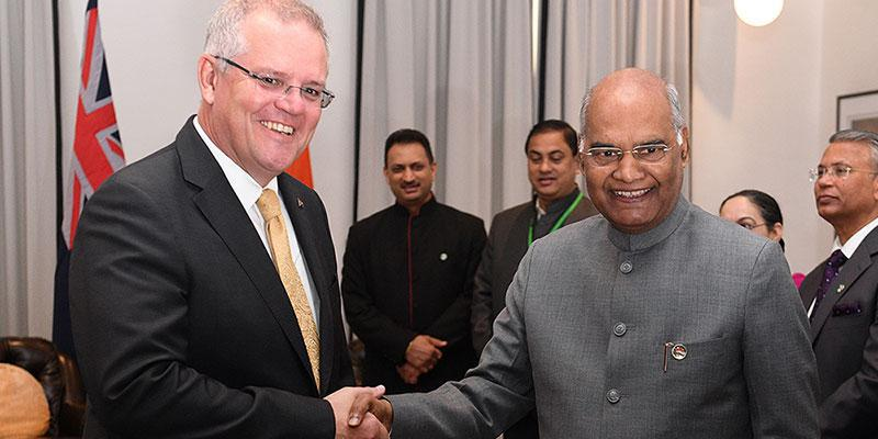 The President of India meets with the Prime Minister of Australia