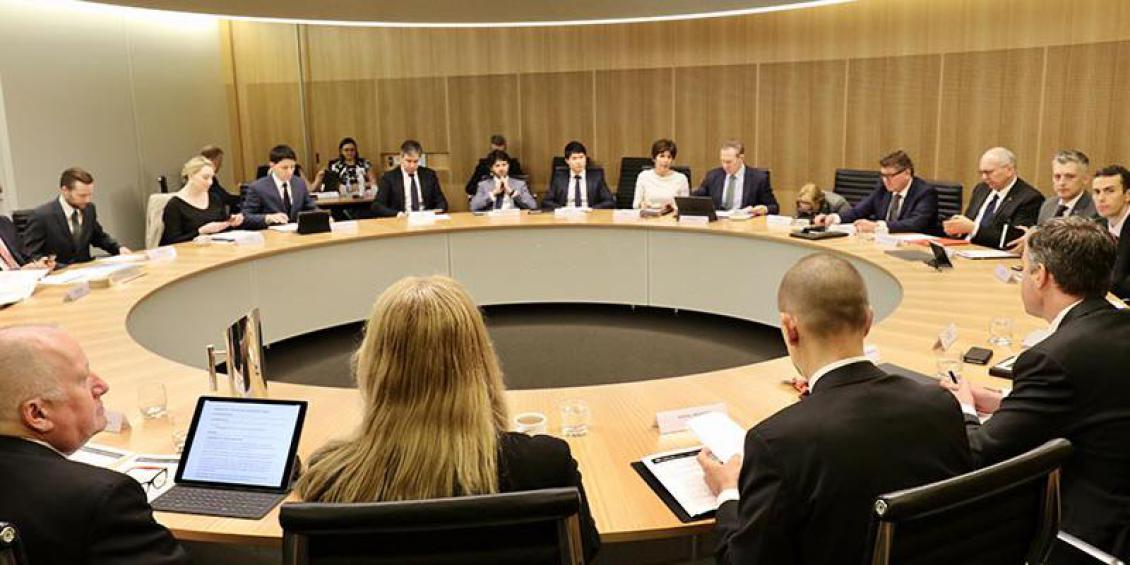 First meeting of the Australian Digital Council - members around a large round table