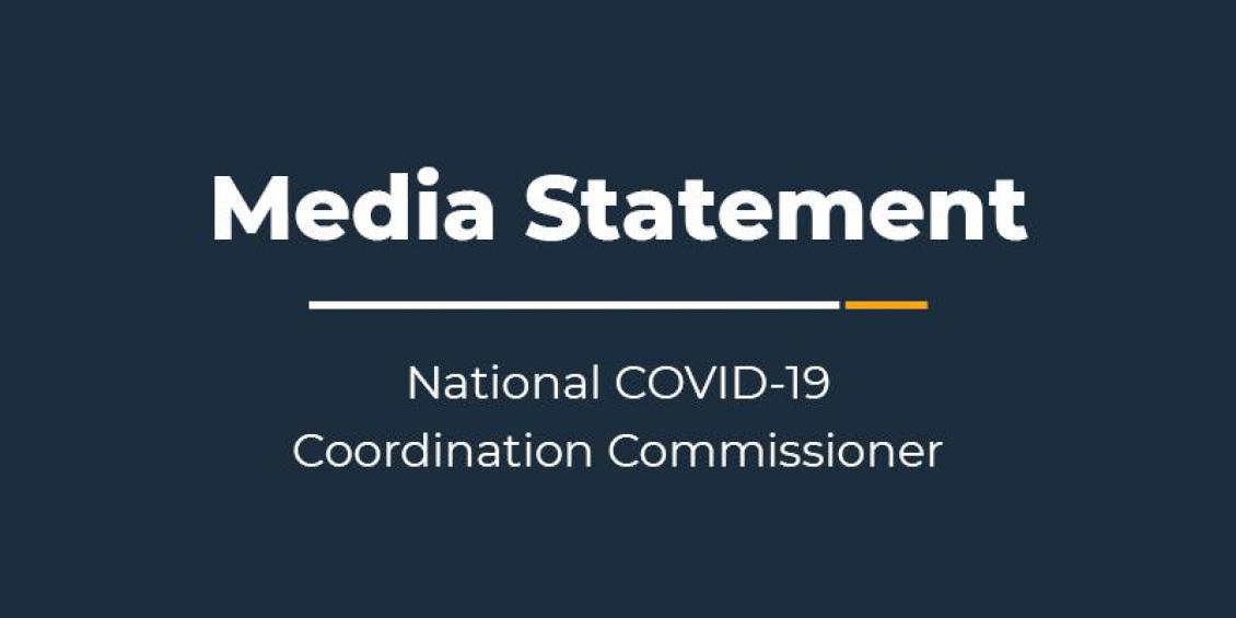 Media Statement - National COVID-19 Coordination Commissioner
