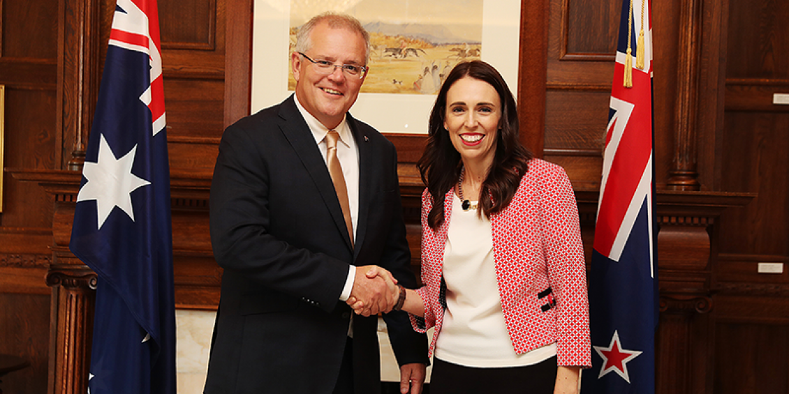 Prime Minister Scott Morrison travelled to Auckland for the annual Australia-New Zealand Leaders' Meeting with New Zealand Prime Minister Jacinda Ardern
