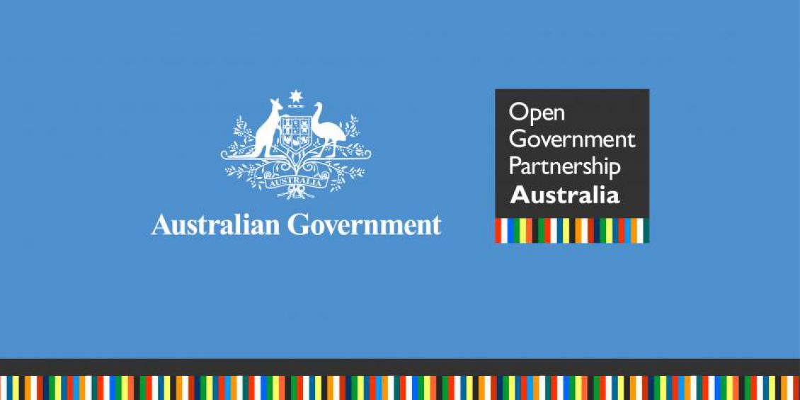 Australian Government (logo): Open Government Partnership Australia