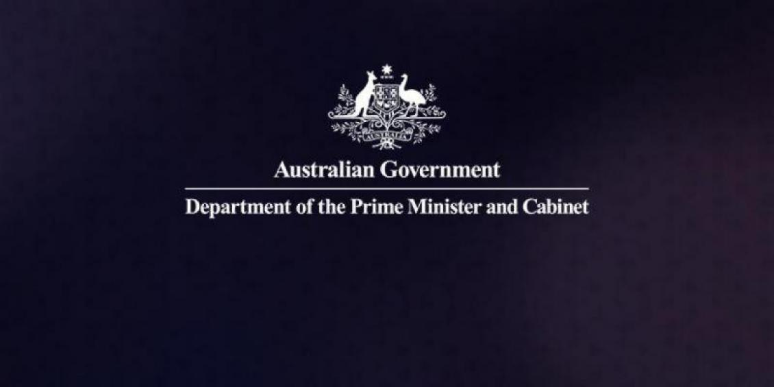 Australian government logo: Department of the Prime Minister and Cabinet