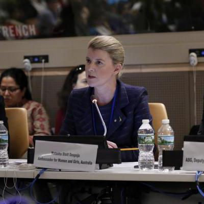 Photograph taken at a UN Women conference. Credit to the UN Women for the photo.