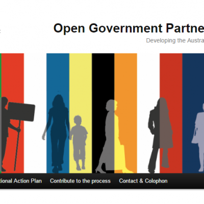 Image of the front page of the Open Government Partnership blog page