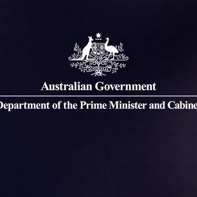 Australian Government logo: Department of the Prime Minister and Cabinet.
