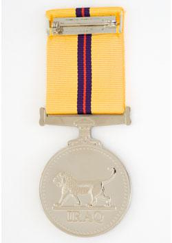Iraq Medal back