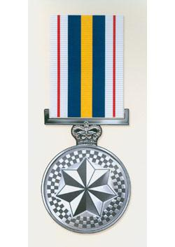 National Police Service Medal front