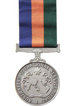 Operational Service Medal - Border Protection front
