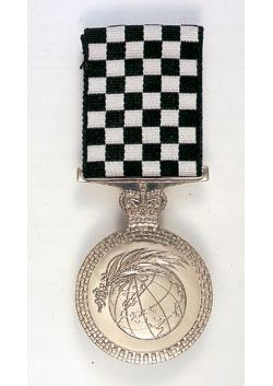 Police Overseas Service Medal back