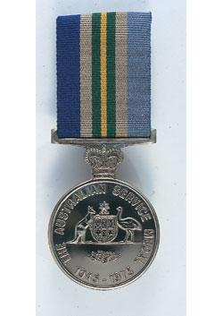 Australian Service Medal 1945-1975 front