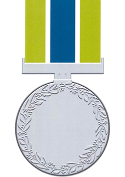 Australian Corrections Medal back view