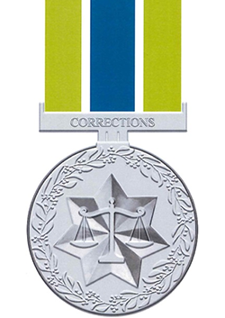 Australian Corrections Medal front view