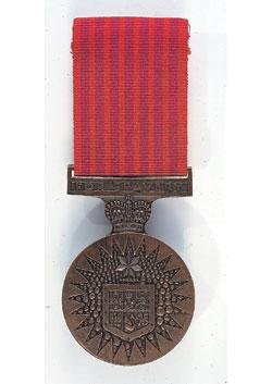 Bravery medal front