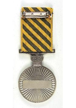 Conspicuous Service Medal back