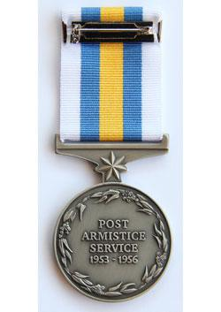 Australian General Service Medal - Korea - back