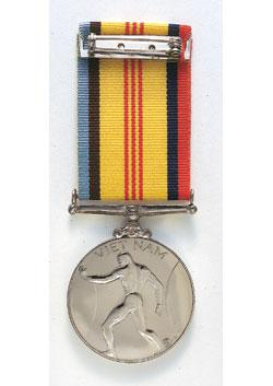 Vietnam Logistic and Support Medal back